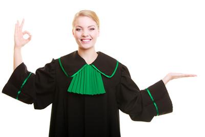 image Polish judge holding up hands