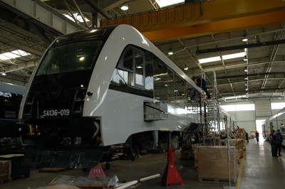 PKM train being built at PESA Bydgoszcz
