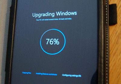 image upgrading tablet to Windows 10