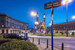 Warsaw's rainbow removed from Saviour square