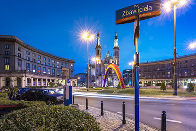 The controversial Warsaw rainbow