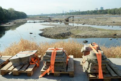Ancient treasures dredged from Warsaw's Vistula river while at record low