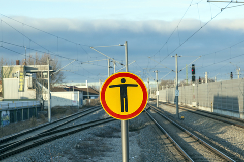 image Munich railways no entry