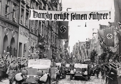 Adolf Hitler visiting Gdańsk in 1939