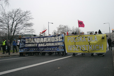 Solidarity instead of nationalism manifestation in Warsaw