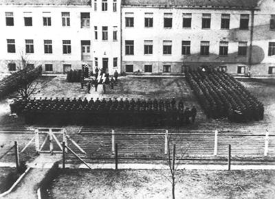 SS troops at Auschwitz-Birkenau