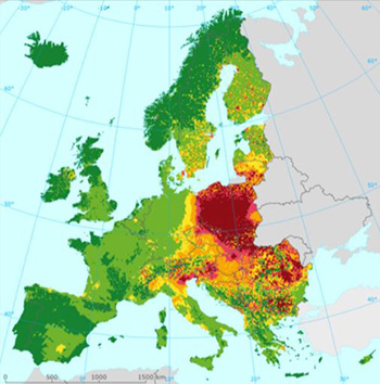 image ambient concentrations of BaP in Europe