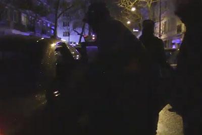 Polish police arresting a drug dealer