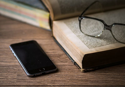Smartphones have substituted books for many students