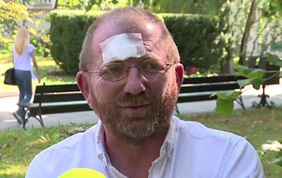Professor Kochanowski after the attack