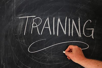 image of the word Training in chalk on a blackboard