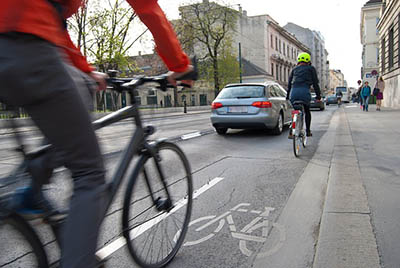 Cycling in the city may be dangerous.